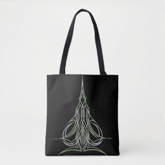Hot Rod Custom Car Pinstripe Pinstriping Art Tote Bag