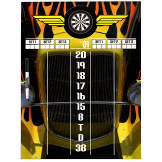 Hot Rod Darts Scoreboard Dry Erase Board