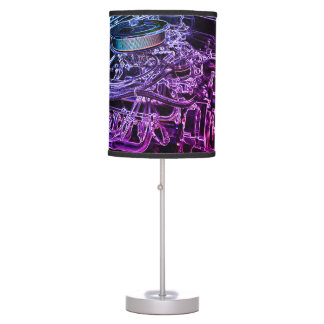 Hot Rod Engine Sketch Table Lamp