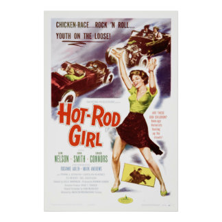 Hot Rod Girl - Vintage 50 s Movie Poster