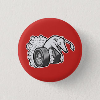 Hot Rod Hound 1 Inch Round Button