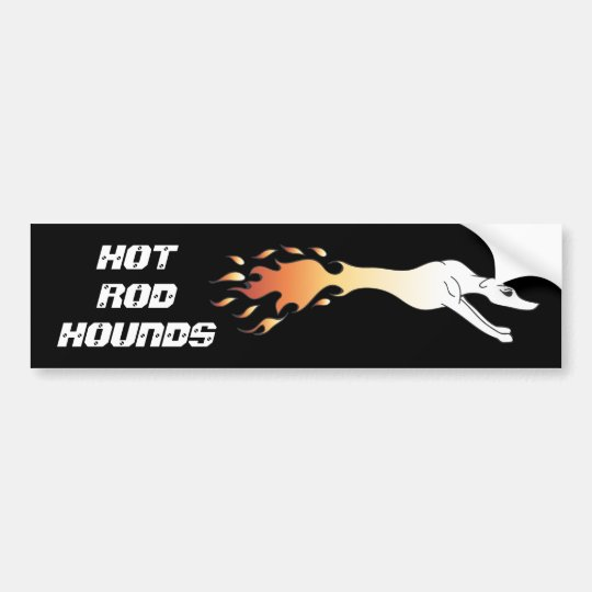 Hot Rod Hounds Bumper Sticker
