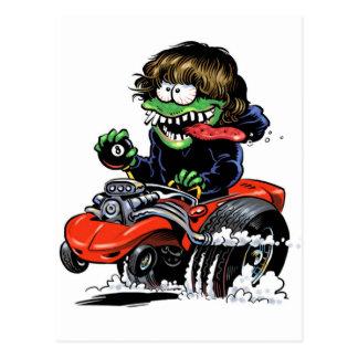Hot Rod Monster Postcard