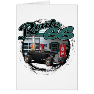 Hot Rod on Route 66 Card