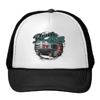 Hot Rod on Route 66 Trucker Hat