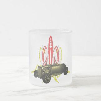 Hot Rod Pinstripe Frosted Glass Coffee Mug