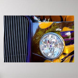 Hot Rod Show Car Light Print