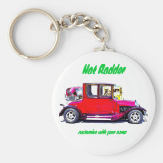 Hot Rodder Keychain