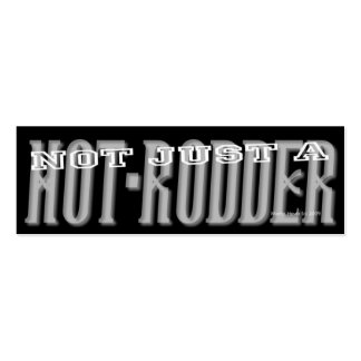 Hot-Rodder - Social Media Personal Card Mini Business Card