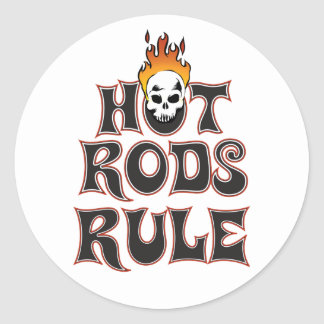 "Hot Rods Rule 3"" Sticker"