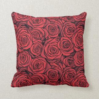 Hot rose throw pillow