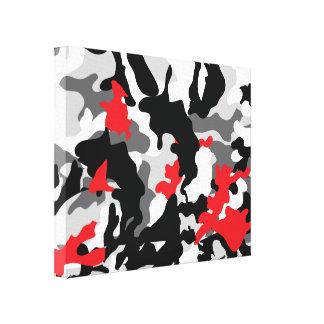 Hot Safari black and white Canvas Print