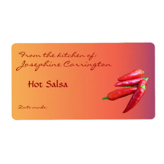 Hot Salsa Canning Labels