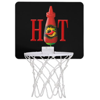 Hot sauce bottle mini basketball hoop