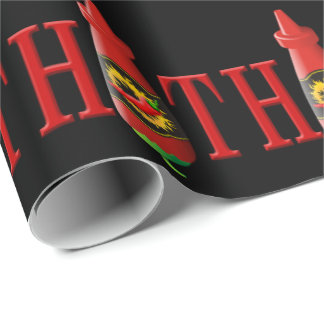 Hot sauce bottle wrapping paper