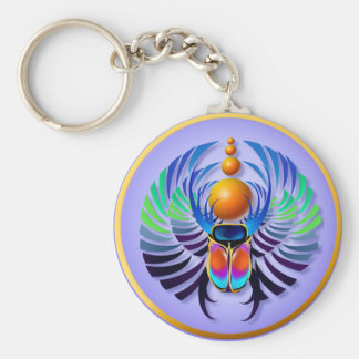 Hot Scarab light Keychains