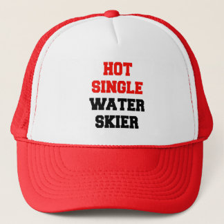 Hot Single Water Skier Trucker Hat