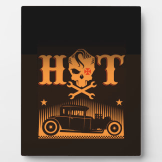 Hot Skull Rods Plaque