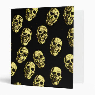 Hot Skulls,eggshell 3 Ring Binders