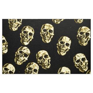 Hot Skulls,eggshell Fabric