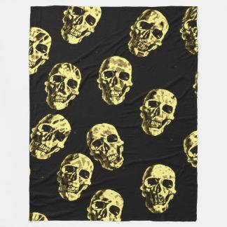 Hot Skulls,eggshell Fleece Blanket