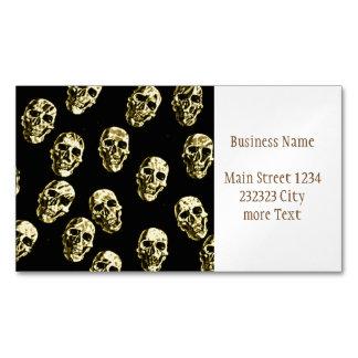 Hot Skulls,eggshell Magnetic Business Card