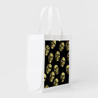 Hot Skulls,eggshell Reusable Grocery Bag
