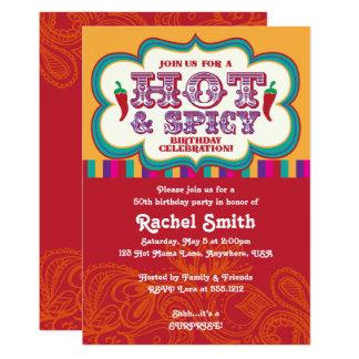 Hot & Spicy Birthday Invitation