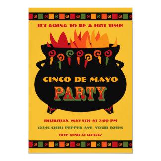 "Hot & Spicy Party Invitation 5"" X 7"" Invitation Card"