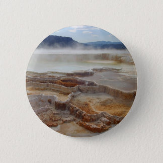 Hot Spring In Yellowstone 2 Inch Round Button
