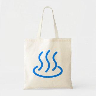 Hot spring mark 2 (blue color) tote bag