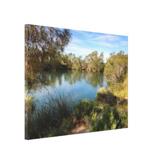 Hot springs in the desert canvas print