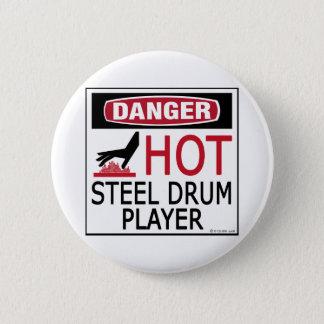Hot Steel Drum Player 2 Inch Round Button