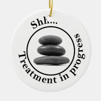 Hot Stone Massage Do Not Disturb Ceramic Ornament