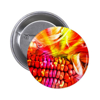 hot striped maize 2 inch round button