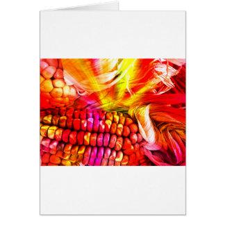hot striped maize card