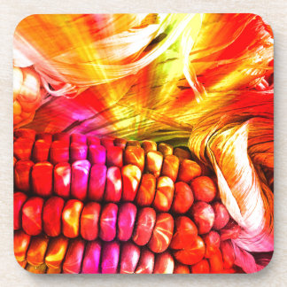 hot striped maize drink coasters