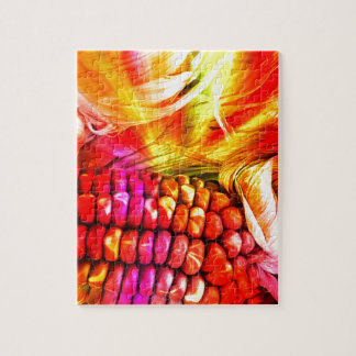 hot striped maize jigsaw puzzle