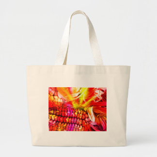 hot striped maize large tote bag