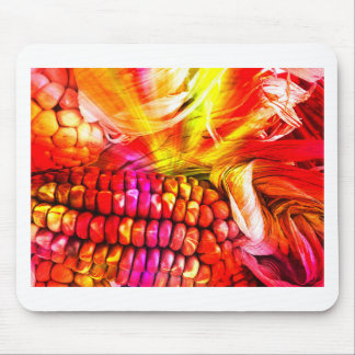 hot striped maize mouse pad