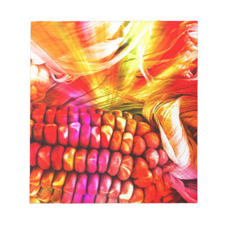 hot striped maize notepad