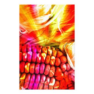 hot striped maize personalized stationery