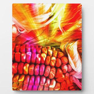 hot striped maize photo plaques
