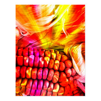 hot striped maize postcard