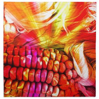 hot striped maize printed napkins
