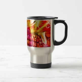 hot striped maize travel mug