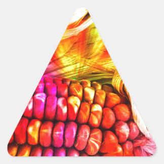 hot striped maize triangle sticker