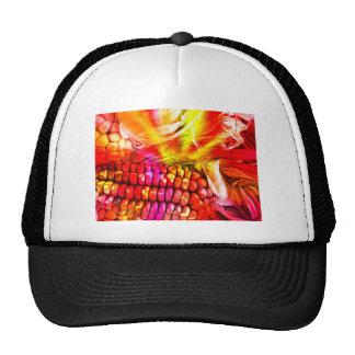 hot striped maize trucker hat