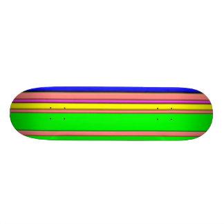 hot stripes rainbow skate board