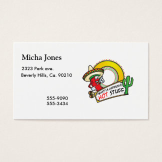 Hot Stuff Spicy Red Pepper Mexico Business Card